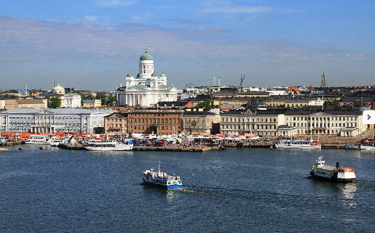 Helsinki, visto desde el mar - Capitales Bálticas - Arawak Viajes
